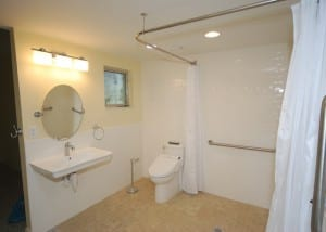 Wheelchair Accessible Bathroom | Greaves Contruction