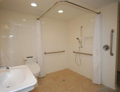 ADA Shower + Bathroom